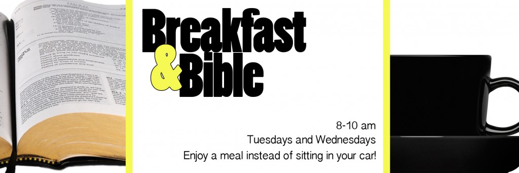 breakfast and bible banner